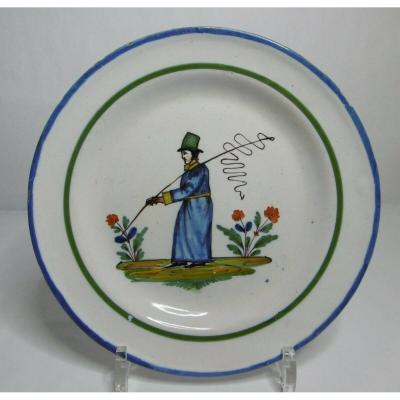 Earthenware Plate From Islettes Early Nineteenth Representative A Coach