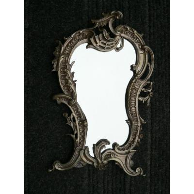 Miroir En Bronze Argenté De Style Louis XV