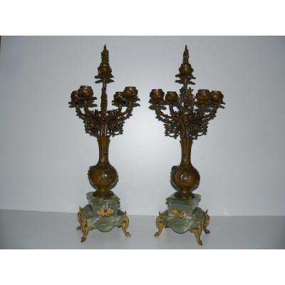 Pair Of XIXth Candlesticks