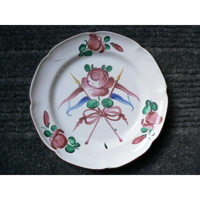Revolutionary Plate In Earthenware From Islettes Nineteenth