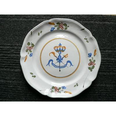 Revolutionary Earthenware Dish With Three Orders Of 18th Century Islettes