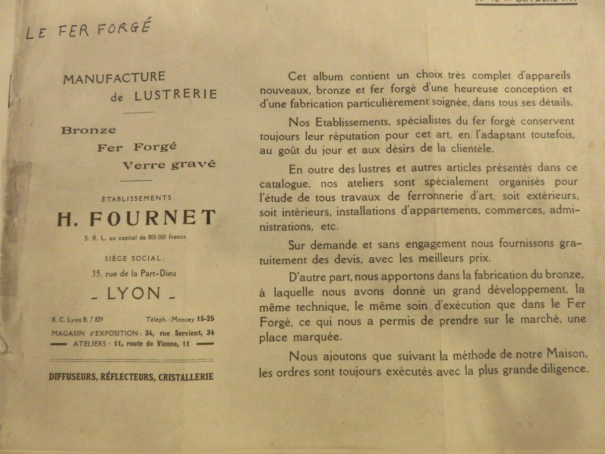 Miroir En Fer Forgé  Création De Henri Fournet à Lyon époque Art Nouveau -photo-6