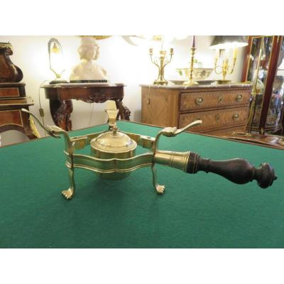 Chauffe Plat à alcool tripode en bronze fin XVIIIème