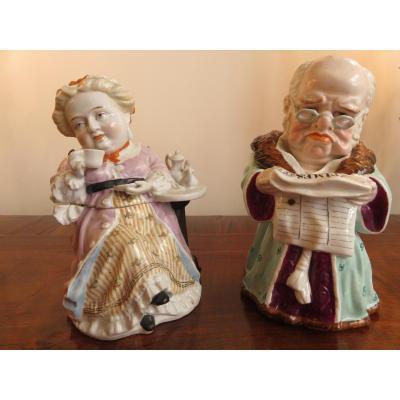 Boites , Trompe l'Oeil En Porcelaine ,d'origine Anglaise