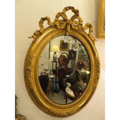 Miroir Ovale De Style Louis XVI  époque XIX ème
