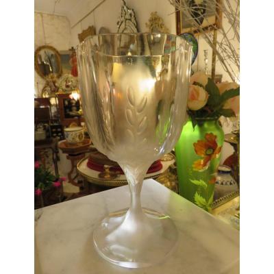 Vase en cristal  Lalique France , modèle  Leila XXème