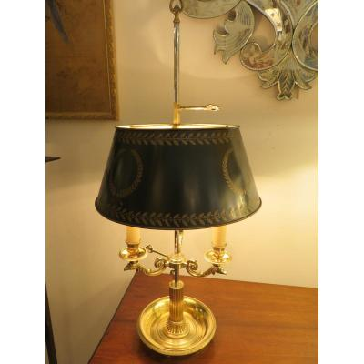 Hot Water Bottle Lamp With Three Lights, Double Adjustment, In Gilt Bronze, With Griffin Heads XX ème
