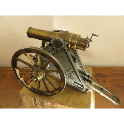 Model Of An Artillery Cannon, Model Mortero 1895