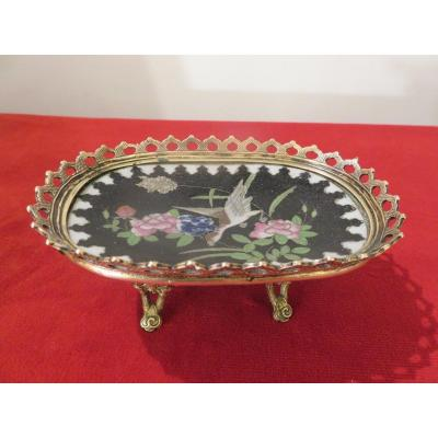 Empty Pocket In Cloisonne, Brass And Bronze Frame XIX