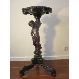 Sellette tripode en bois noirci d'époque  Napoléon III