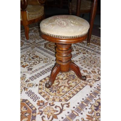 chaise ancienne tabouret ancien sur proantic napoleon iii. Black Bedroom Furniture Sets. Home Design Ideas