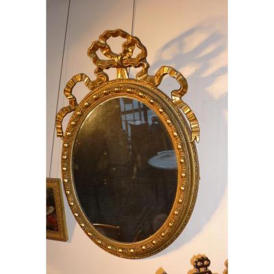 Miroir Ovale Style Louis XVI