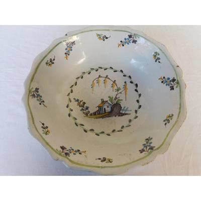 Grand Plat Creux  Faience
