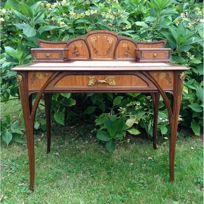 Louis Majorelle :élégant Bureau De Dame Art Nouveau