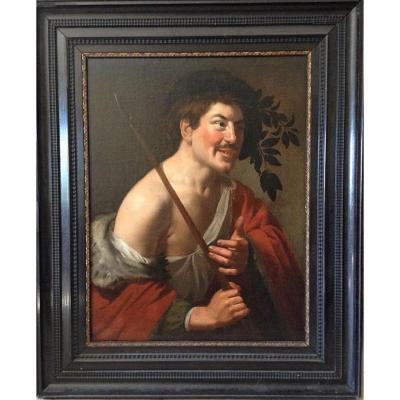 """Ec.hollandaise 17th, Hst """"portrait Of Man"""""""