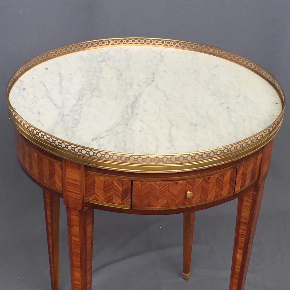 Table Bouillotte Louis XVI En Marqueterie-photo-2