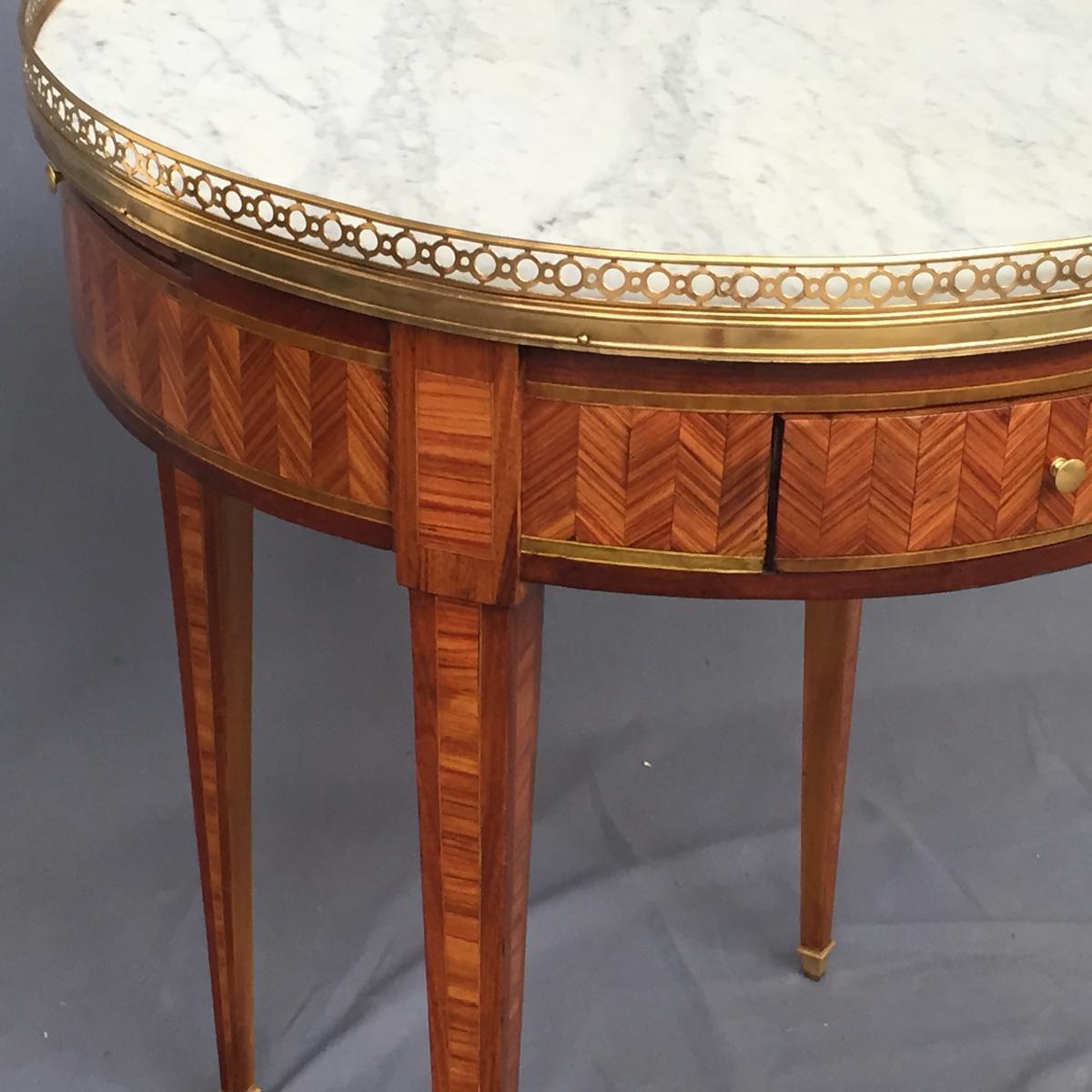 Table Bouillotte Louis XVI En Marqueterie-photo-4