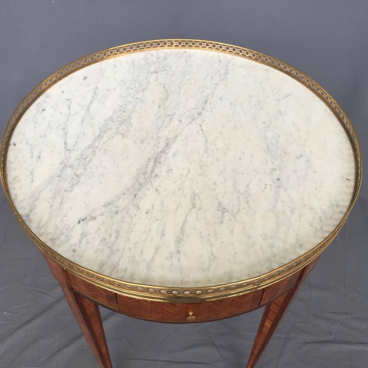 Table Bouillotte Louis XVI En Marqueterie-photo-5