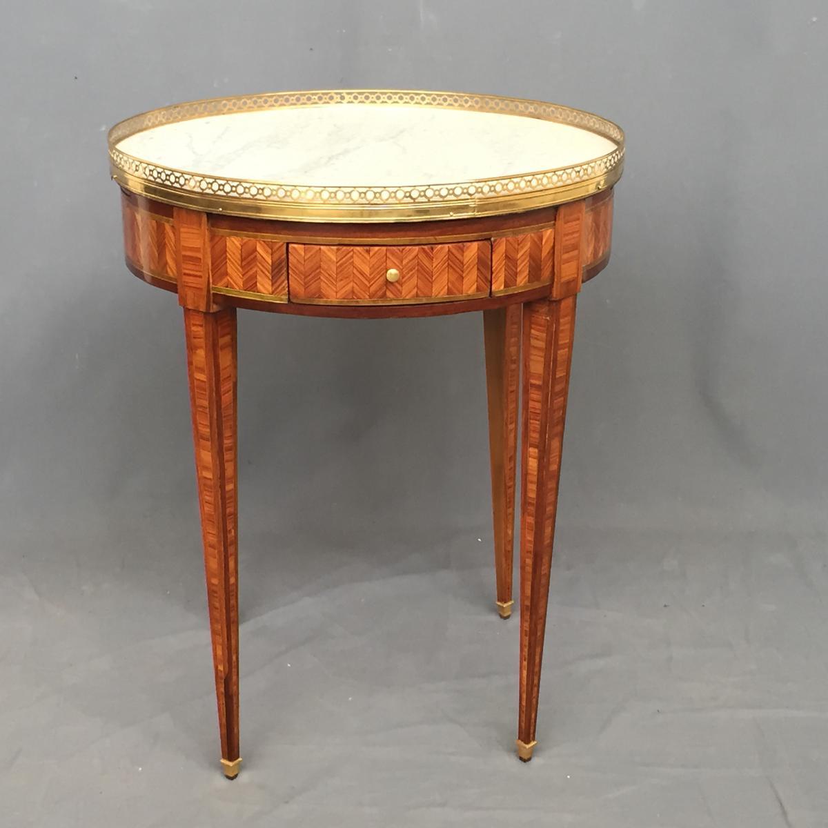 Table Bouillotte Louis XVI En Marqueterie-photo-6