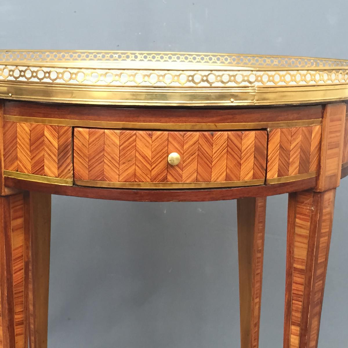 Table Bouillotte Louis XVI En Marqueterie-photo-7