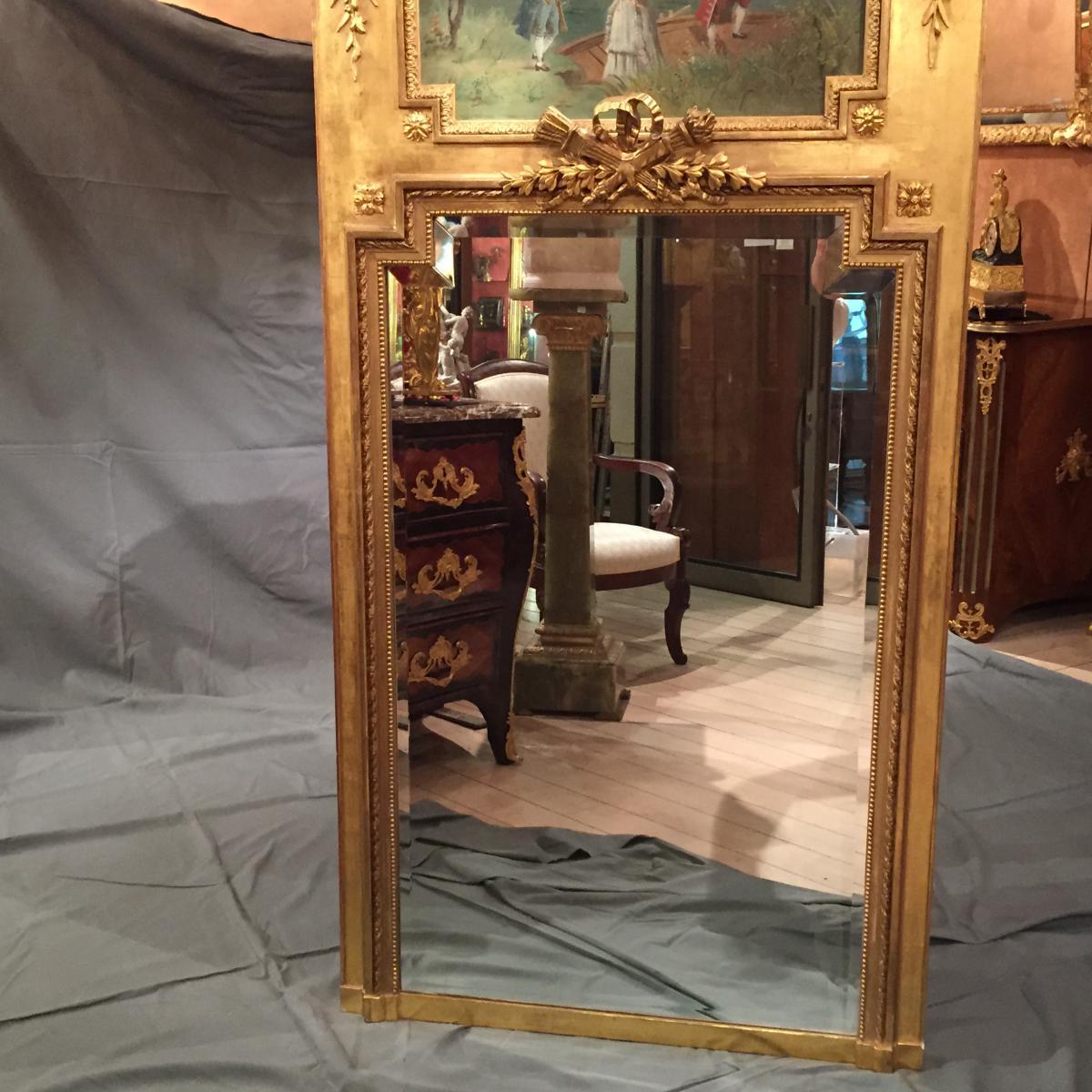 Miroir trumeau de style louis xvi d 39 poque xix me trumeaux for Miroir des modes value