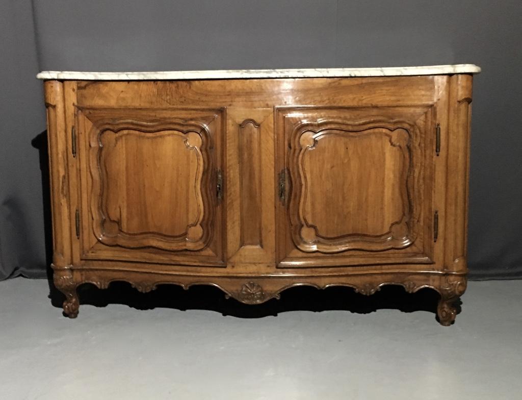 """""""buffet De Chasse bourguignon En Noyer D'époque Louis XV """""""
