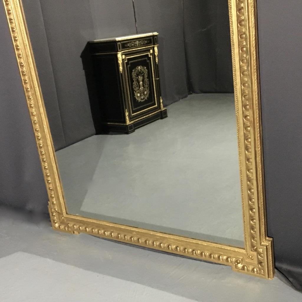 Important Miroir Doré, H:203, époque XIXème