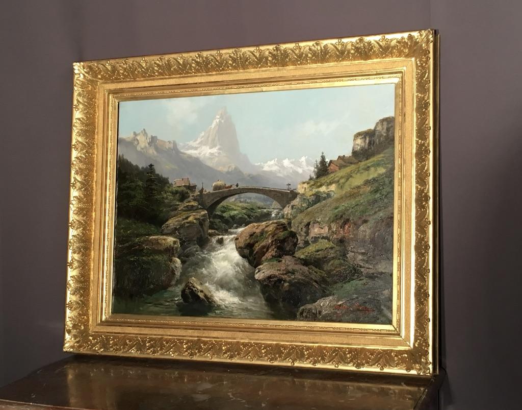 Tableau Paysage Signé Théodore Levigne (1848-1912)