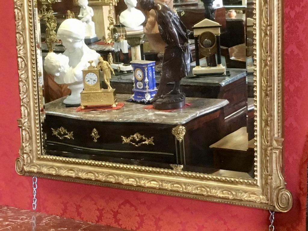 Mirror Aux Deux Amours, XIXth, H: 1,85m-photo-2