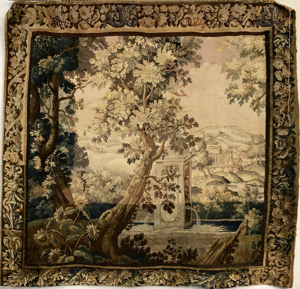 """Aubusson Tapestry """"greenery"""" Eighteenth Time"""