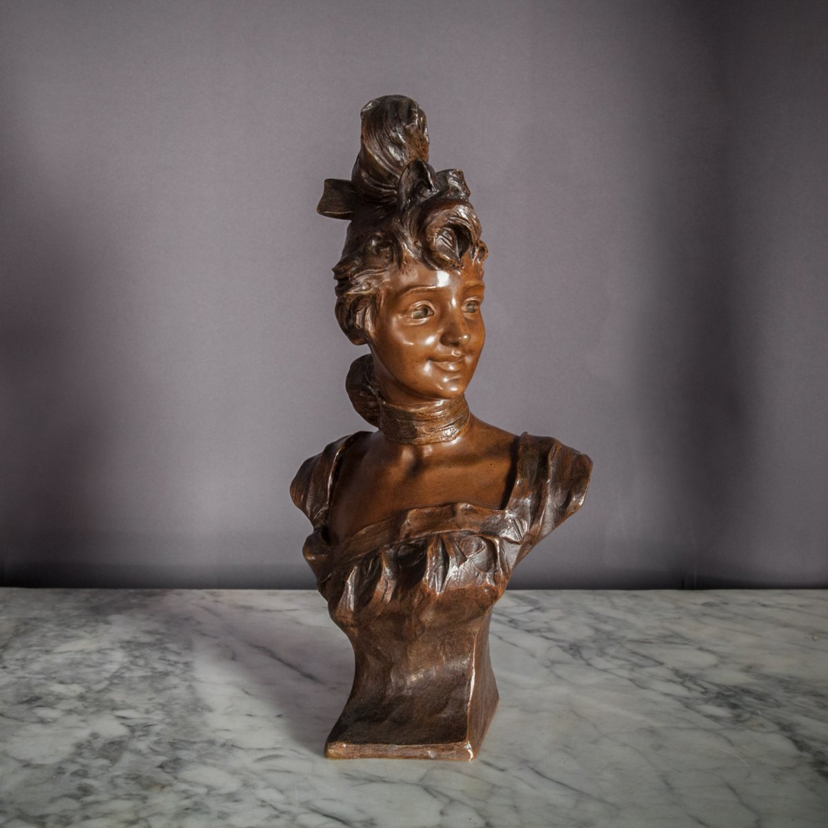 Sculpture En Bronze signée Van Der Straeten