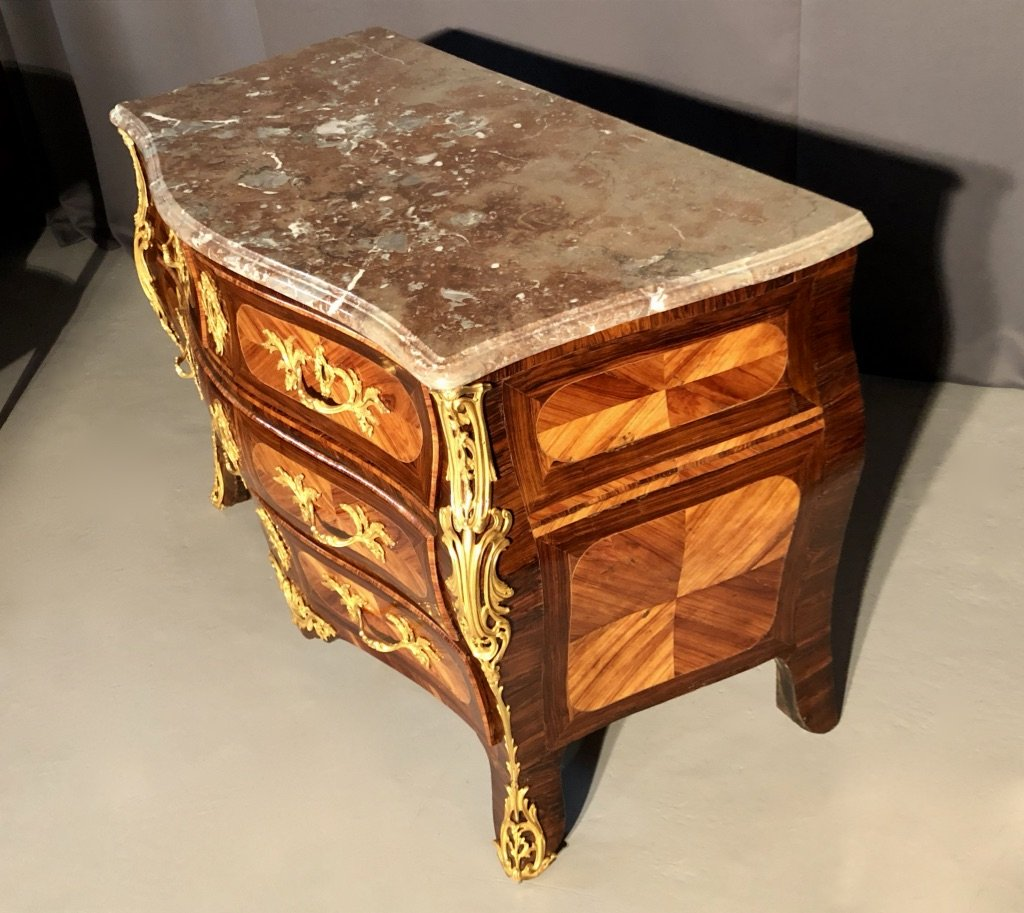 Tomb Commode In Rosewood And Rosewood, Eighteenth Time-photo-4