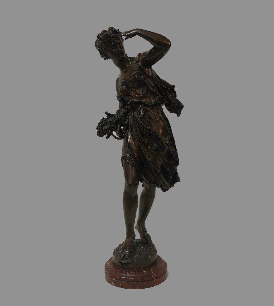Sculpture En Bronze Signée Moreau Mathurin