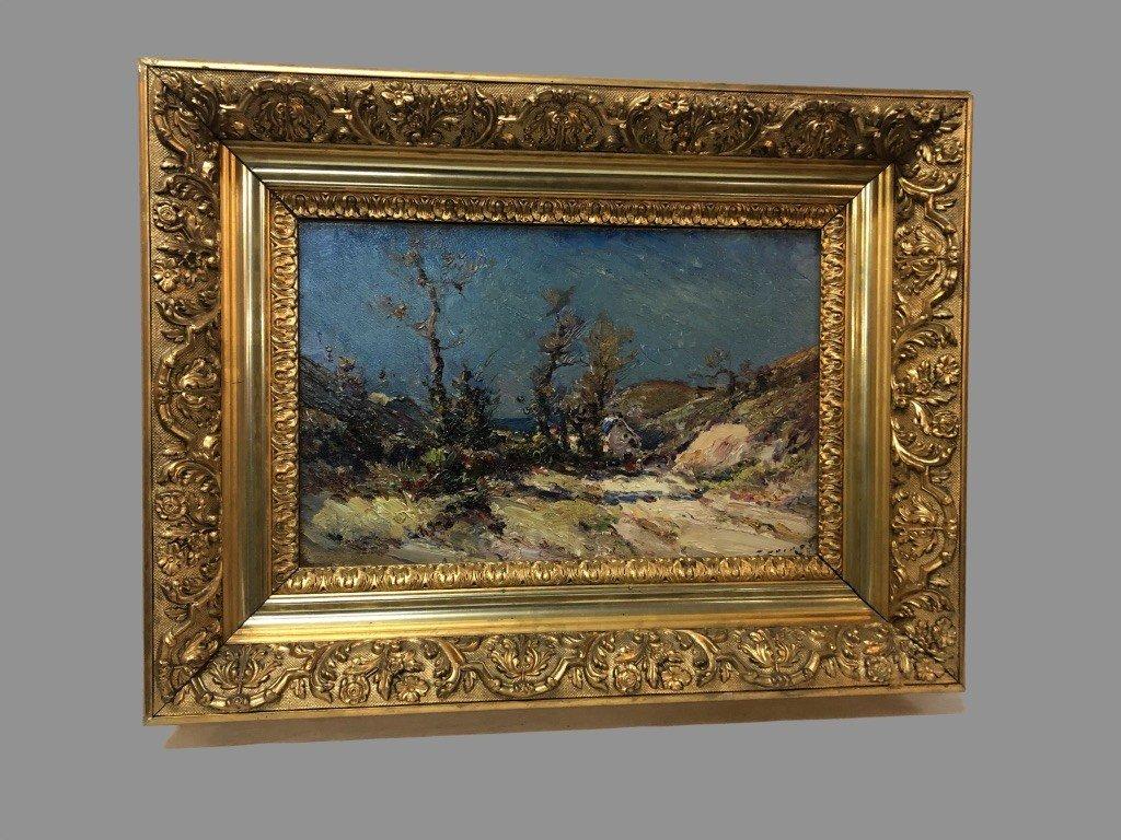 Oil On Canvas Signed Emile Noirot