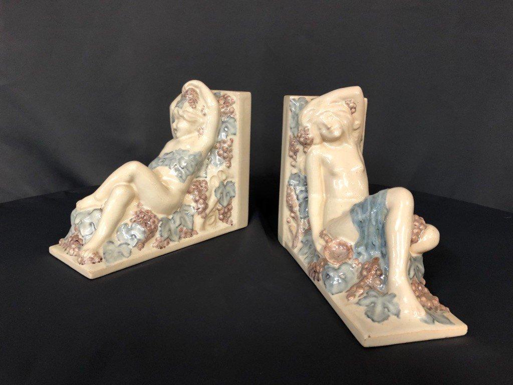 Pair Of Ceramic Bookends