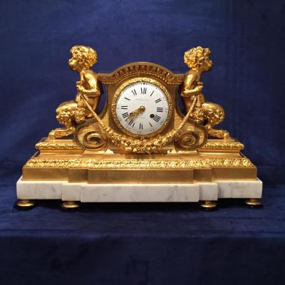 From Pendulum Cartonnier Style Louis XVI XIXth