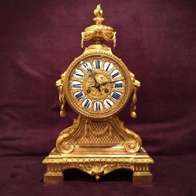 Neoclassical Gilt Bronze Clock