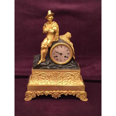 Vintage Clock Restaurtion Gilt Bronze And Patina