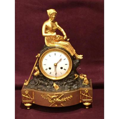 Antique Clock Restoration Gilt Bronze And Patina