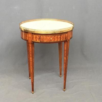 Table Bouillotte Louis XVI En Marqueterie