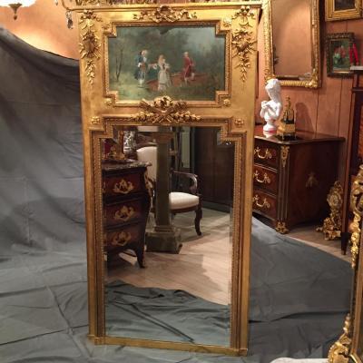 Miroir Trumeau De Style Louis XVI, d'époque XIXème