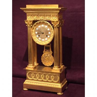 Pendulum Gilt Bronze Empire Period