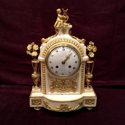Pendulum And Bronze Marble XVIIIth