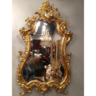 Miroir De Forme Violonnée d'époque XIXe