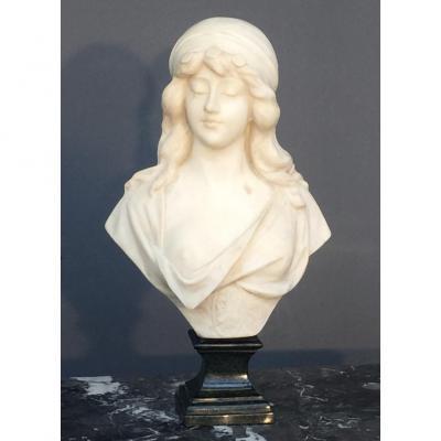 Sculpture En Marbre Signée Adolfo Cipriani (1880-1930)
