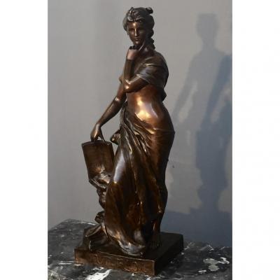 "Sculpture En Bronze ""futurum"" Signé Levasseur"