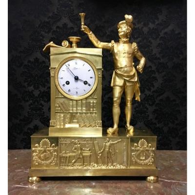 Pendule Maçonnique Signé Guyon à Lyon, époque XIXème