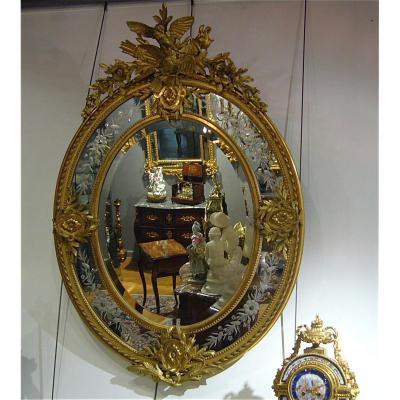 Miroir Ovale à Parcloses