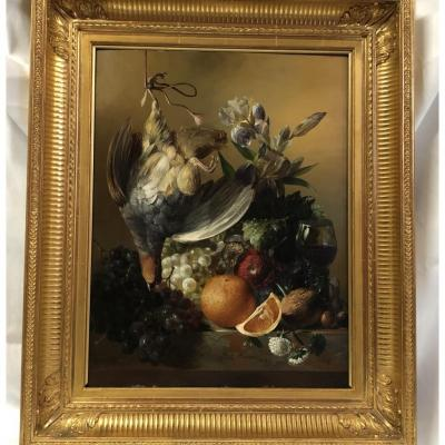 "Hsp ""nature Morte"" Signée W.f Weidner 1843"