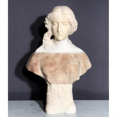 White And Veined Marble Sculpture Signed Gory (1885 - 1925)